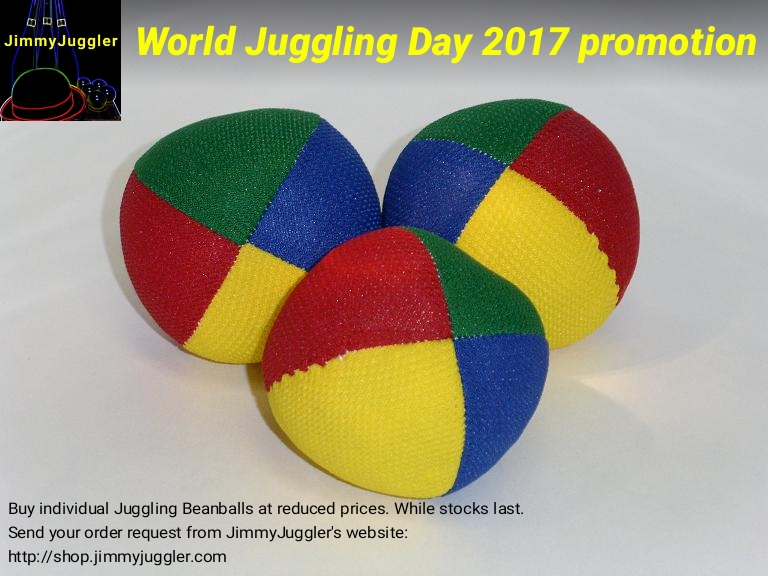 World Juggling Day 2017 promotion on Juggling Balls